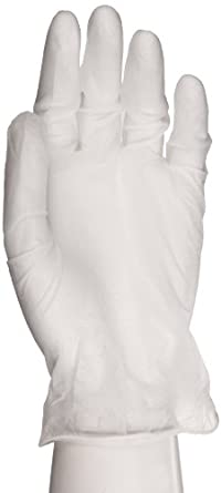 """Microflex Derma Care Vinyl Glove, Powdered, 9.1"""" Length, 3.1 mils Thick, XSmall (Pack of 100)"""
