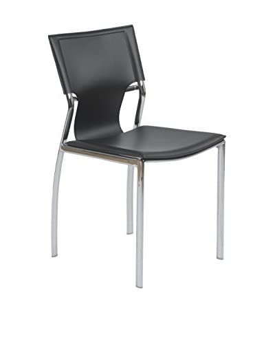 Eurostyle Vinnie Side Chair, Black