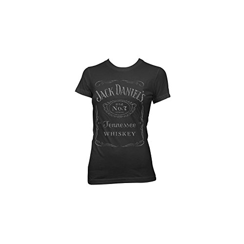 Jack Daniels Women's Daniel's Label T-Shirt Black Medium (Jack Daniels Apparel For Women compare prices)