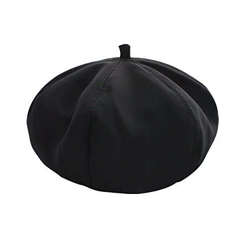 toogoor-black-retro-british-style-simple-design-pure-color-beret