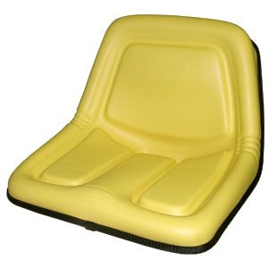 John Deere - A&I Replacement High Back Seat Yellow Version of Oregon 73-560 - For Riding Mower modes: 316, 318, 322, 330, 332, 420, 430; Skid Steer Loader models: 375, 570