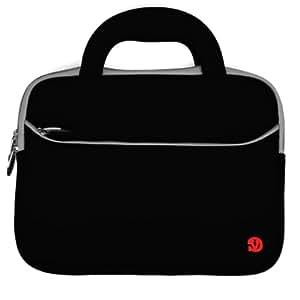 Sacoche pour lecteur de livre électronique Netbook (10 et 10,1 pouces) 25.4 et 25.65 cm Samsung Acer Aspire One Asus Dell HP Toshiba. (Noir)