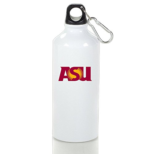 EVALY Arizona State University Logo High Quality Sports Kettle White With Carabiner Hook,400-600ml /6.5OZ (Go Diego Go Sun Shade compare prices)