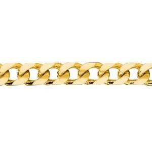 14K Solid Yellow Gold Miami Cuban Chain Necklace 5.1mm thick 20 Inches