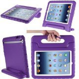 i-Blason Apple iPad Air / iPad 5 ArmorBox Kido Series Light Weight Super Protection Convertable Stand Cover Case (Purple)