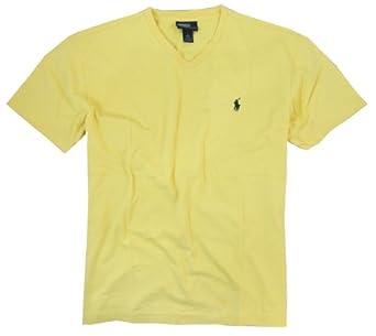 Polo Ralph Lauren Men's V-Neck T-Shirt, Classic Yellow, Small