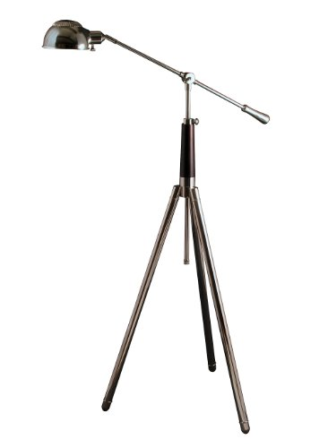 Lighting Enterprises Adjustable-Arm Pharmacy Floor Lamp, Polished Nickel