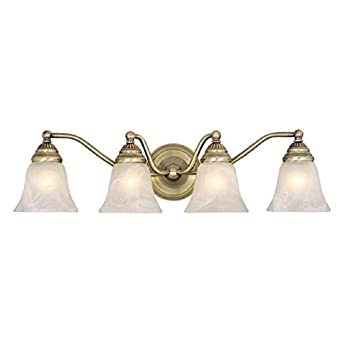 Vaxcel Standford 4L Vanity Light Antique Brass Wall Light