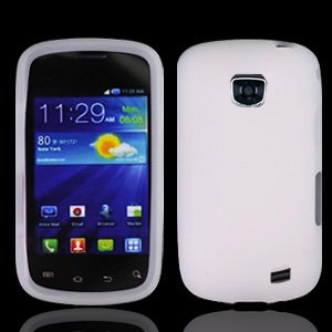 Straight Talk Samsung Galaxy Proclaim White Silicone Soft Case Skin Cover Cell Phone Accessory 720C SCH-S720C