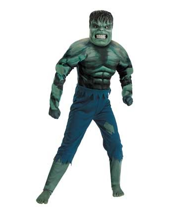 Hulk Muscle Kids Costume