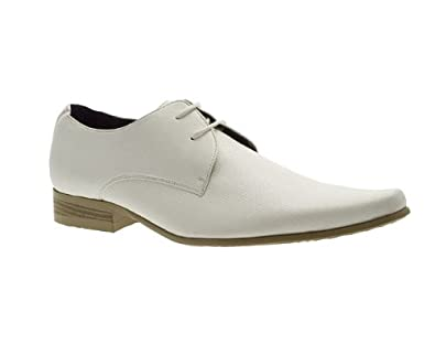 barratts mens white leather formal shoes size 12