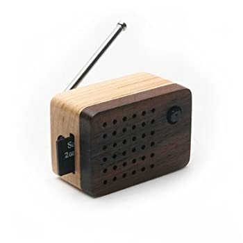 Motz Tiny Wooden Emotion 2 Speaker (Built-in FM Radio) for iPod and MP3 Player (100% Made in Handicraft)