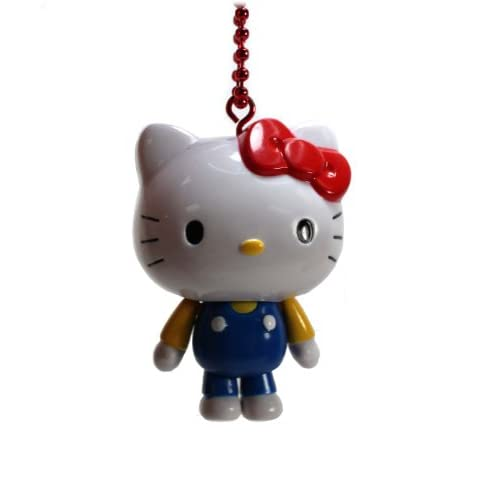 Official Sanrio Hello Kitty Figure Keychain Strap / Cell Phone Charm   Blue Outfit