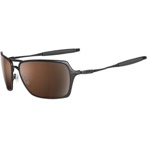 Oakley Inmate Men's Polarized Lifestyle Race Wear Sunglasses – Color: Polished Black/VR28 Black Iridium, Size: One Size Fits All