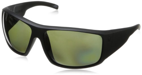Electric Back Bone Wrap Polarized Sunglasses,Matte Black,164 Mm