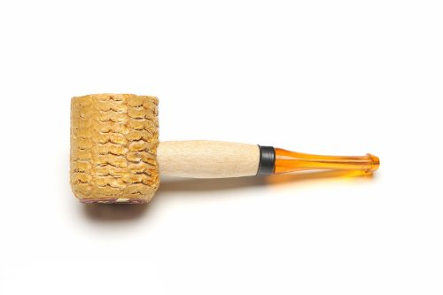 Missouri Meerschaum Mini Varnished Gold Stem Corncob Tobacco Pipe