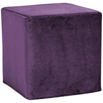 Howard Elliott 850-223 Bella No Tip Block Ottoman, 17 By 17 By 17-Inch, Eggplant front-685940