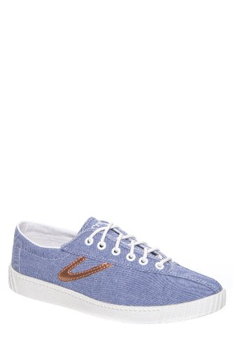 Women's Nylite Chambray Sneaker - Blue Rosegold
