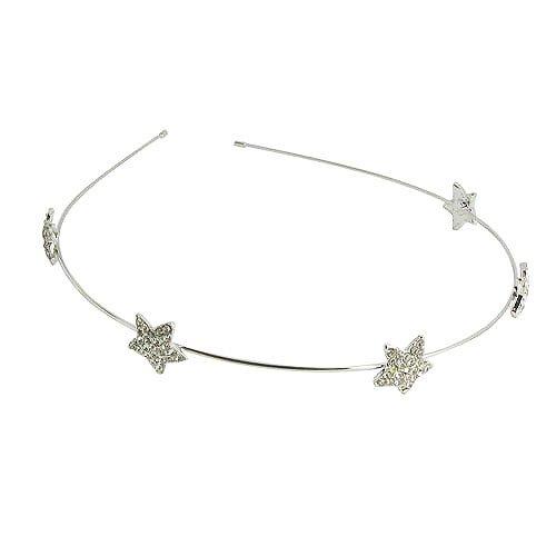 Fashion Rhinestone Decoration Five-pointed Star Shining Thin Hair Band Headband