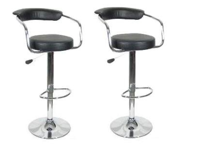 Omicron Adjustable Retro Swivel Stool - Set of 2