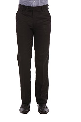 LEO MENS LIGHT CHARCOAL SLIM FIT TROUSER