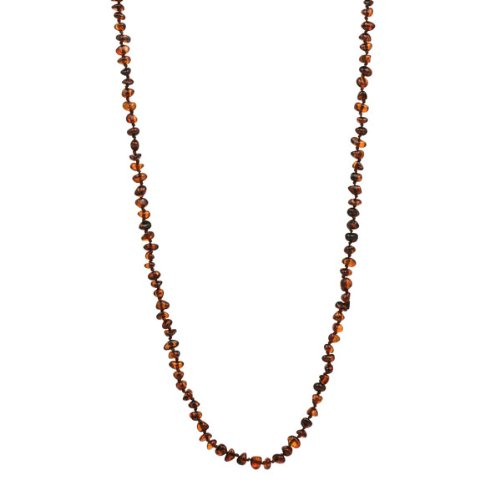 Baltic Honey Amber Beads Necklace, 36