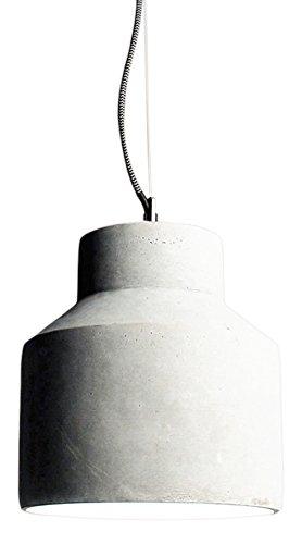 s-luce-43461-plinth-m-lampara-de-techo-de-hormigon-cromo-40-w-e27-gris-diametro-22-cm