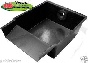 Nelson 39 s pond waterfall spillway filter box for Diy pond waterfall filter