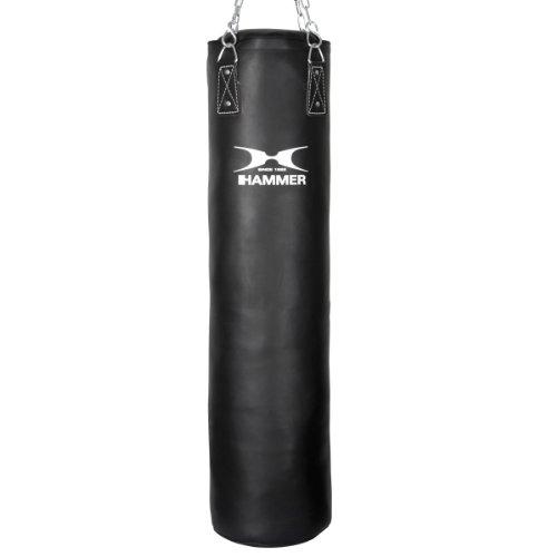Hammer Boxsack Kunstleder Kick, Schwarz, 120 cm, 93212