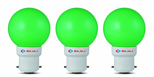 Ping Pong B22 0.5W LED Bulb (Green, Pack of 3)