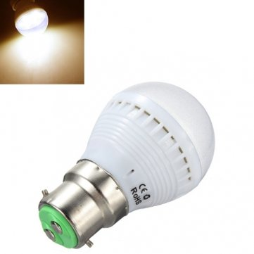 Bheema B22 2.5W Warm White 7 Smd 5050 Led Light Bulb Lamp 110-240V
