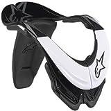 Alpinestars Bionic Neck Support SB Adult Neck Brace Dirt Bike Motorcycle Body Armor - Black/White / Medium