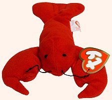 TY Teenie Beanie Babies Pincher the Lobster Stuffed Animal Plush Toy - 6 inches long - 1
