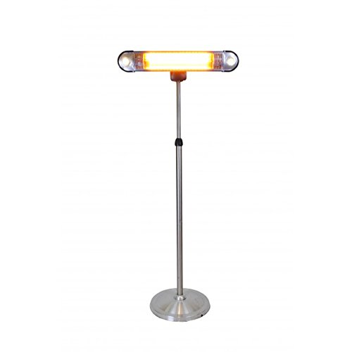 Lava Heat Italia Patio Heater Wall-E Infrared, 750 / 1500 Watts, Wall Mount Included, Stainless Steel