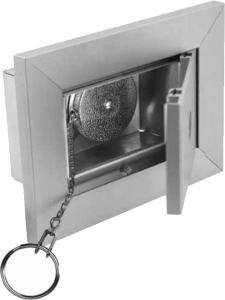 "Bommer 5620 Key Keeper U.S.P.S. Lock (Standard) Without Key Retractor & 24"" Chain"