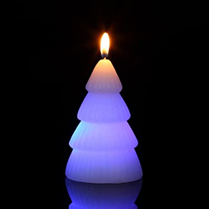 Led Candle with real flame