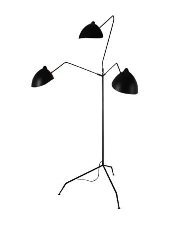 Kirch & Co. Holstebro Floor Lamp, Silver/Black