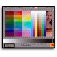Kodak IT8 35mm Transparency Target for Calibrating Scanners and Other Digital Color Devices.