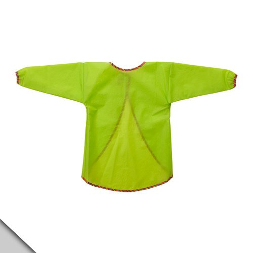 Ikea MALA Apron with long sleeves, green. Eating playing painting craft activities smock water resistant breathable PEVA; a chlorine-free plastic material, alternative to PVC