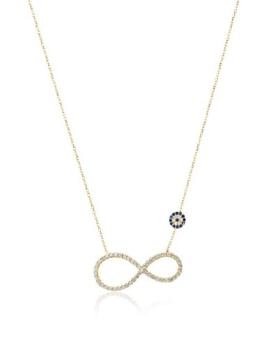 Argento Vivo Golden Evil Eye Infinity Necklace