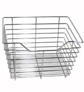17 5 in x 11 in wire basket drawer chrome. Black Bedroom Furniture Sets. Home Design Ideas