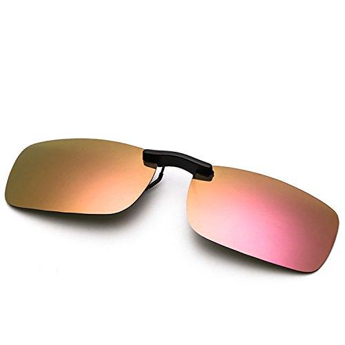 2d2b4ddaadd Clip On Sunglasses Men s Titanium Flexible Polarized Lenses Glasses Laura  Fairy (A1-Pink