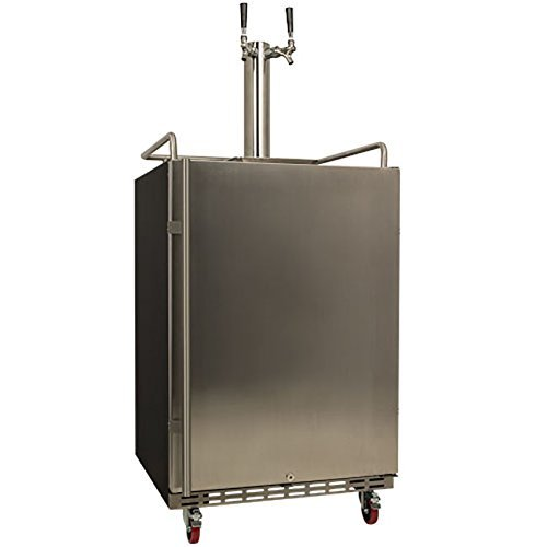 EdgeStar Full Size Dual Tap Built-In Kegerator - Stainless Steel Black (Under The Counter Kegerator compare prices)