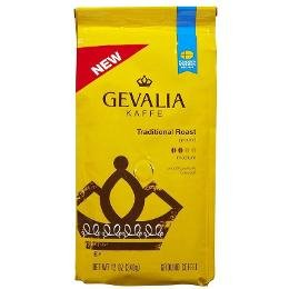 Gevalia, Kaffe, Traditional Roast, Ground Coffee, 12oz Bag (Pack of 2)