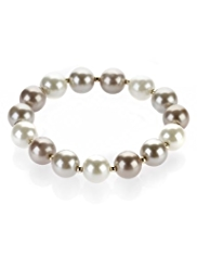 M&S Collection Pearl Effect Ombre Tone Stretch Bracelet