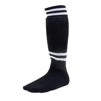 Champion Sports Youth Sock Style Soccer Shinguards - Ages 6-8 (Black)