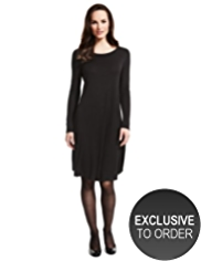 Plus Swing Dress with Wool