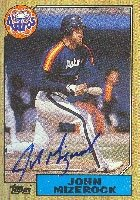John Mizerock Houston Astros 1987 Topps Autographed Hand Signed Trading Card. by Hall+of+Fame+Memorabilia