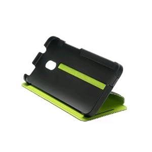 HC-V851 Original HTC One Mini Double Dip Flip Case Schwarz/Grün