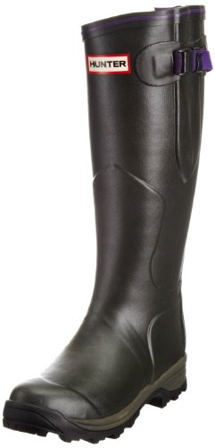 Hunter Women's Lady Balmoral Dark Olive Wellington Boot W24039 5 UK